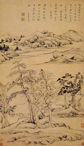 dong qichang in the shade of Dong qichang was a chinese painter, scholar, calligrapher, and art theorist of the later period of the ming dynasty contents [hide] 1 painter 2 art theory 3 scholar and calligrapher 4 gallery 5 references 6 notes 7 external links painter[edit] his work favored expression over formal likeness he also avoided anything.