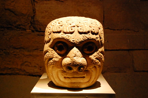 Cabeza-clave at Chavin de Huantar site museum