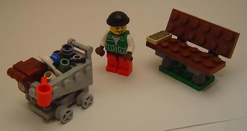 Lego custom minifig tramp