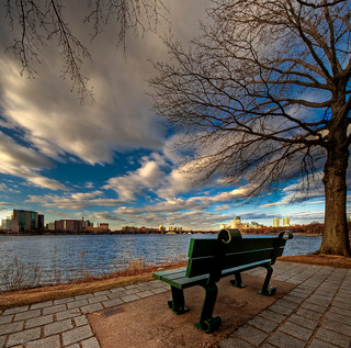 Park Bench on the Charles River, Boston