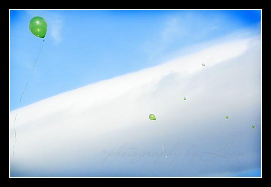 Sage's balloons