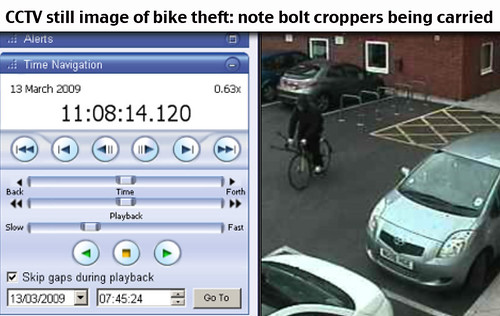 cctv bike theft Newcastle