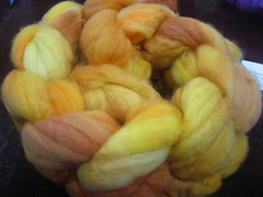 Woolarina roving in Butterscotch