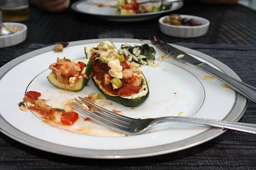Mediterranean Stuffed Zucchini with Feta-Pepper Sauce 2