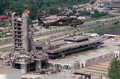 Sarajevo press building #2 (icdgyixify) Tags: 2000 sarajevo bosnia blackhawks heidelberg bosniahercegovina mndsoutheast uh60a 1159th