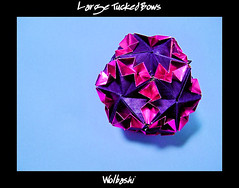 Large Tucked Bows (wolbashi) Tags: origami modular paperfolding unit