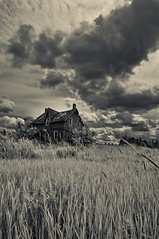 Abandoned House (somebody_) Tags: sky ontario canada clauds oldhouse brucepeninsula kanada eskiev 1on1bwphotooftheweek 1on1bwphotooftheweekjuly2009