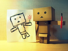 Look what I painted! (willycoolpics.) Tags: painting paint action painted bad mini brush figure paintbrush picnik danbo revoltech herportrait danboard lookwhatipainted