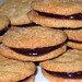 Peanut Butter & Chocolate Sandwich Cookies