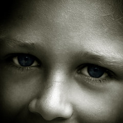 Dream the future (Christine Lebrasseur) Tags: blue boy portrait people blackandwhite france eye art 6x6 canon cutout louis eyes child 500x500 challengeyouwinner thechallengefactory artofimages allrightsreservedchristinelebrasseur bestportraitsaoi