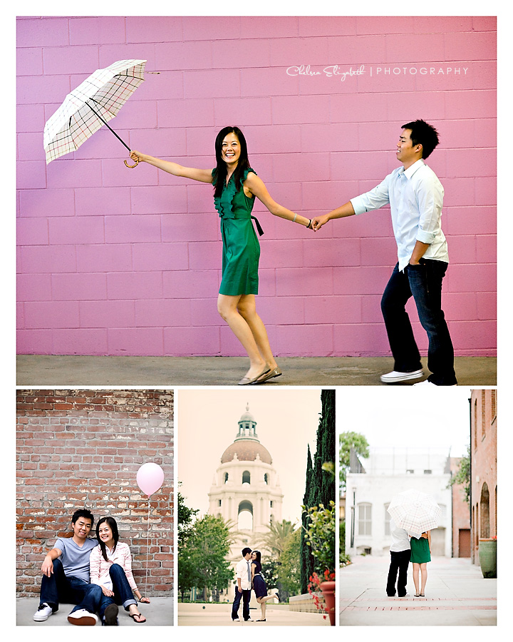 Pasadena Wedding Photography vintage engagement collage picture