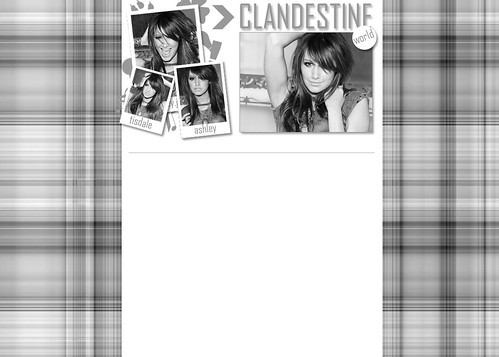 Ashley Tisdale - Layout para o extinto Clandestine.kit.net by Luh Geraldo.