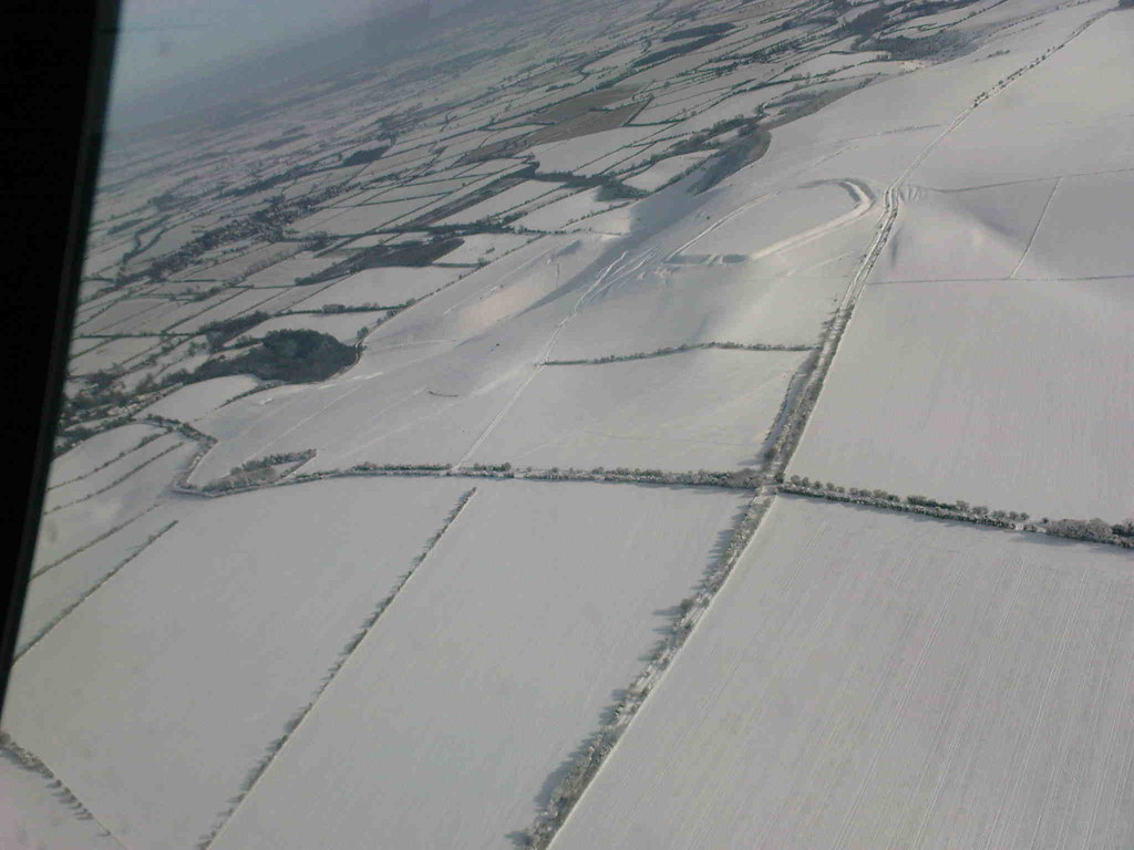 Snow covering Uffington White Horse