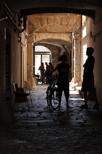luci, ombre e bici