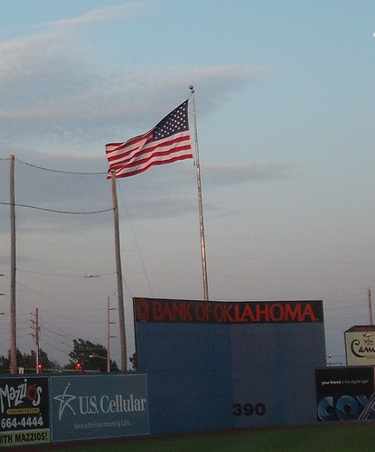 Flag at Drillers Stadium