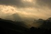 Black spotlight (QooL / بنت شمس الدين) Tags: travel sun clouds dark landscape tea hill valley plantation layers rays cameronhighlands sgpalas sununrise