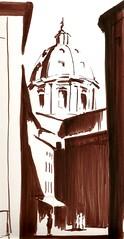 San Andrea della Valle (cduffy_86) Tags: rome sketch dome marker sanandrea sanandreadellavalle