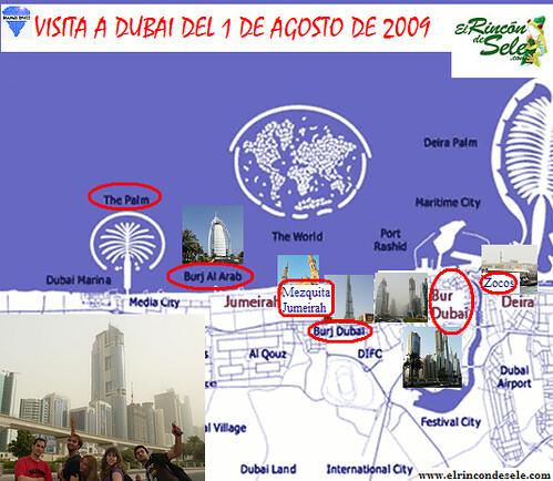 Mapa recorrido Dubai 1 de agosto por ti.