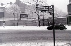 Bernauer Strasse cnr. Brunnenstrasse, Berlin, c.27 December 1964