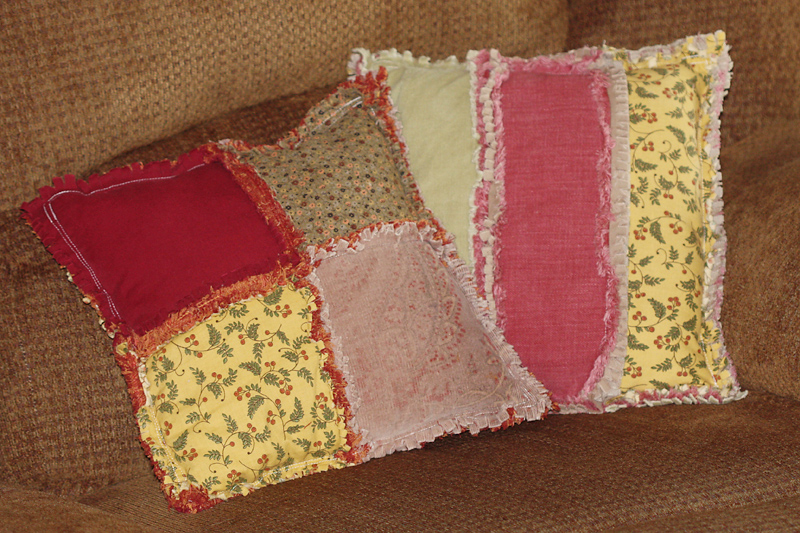 Rag Quilted Pillows