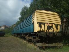 311103 Summerlee 29/08/09 (David_92) Tags: park blue heritage abandoned up train scotland br rail class british 311 preserved derelict boarded depressing summerlee coatbridge 311103