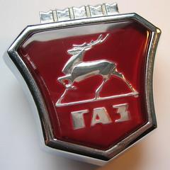 GAZ emblem - 1982 (baga911) Tags: red gaz gas deer volga wolga gazella szarvas газ embléma