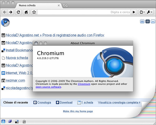 Mac Chromium status update: version 4.0.219.3 (with notes)