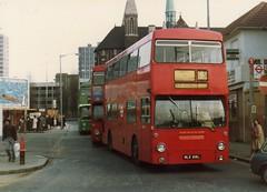 DMS616, West Croydon, March 1982 (aecregent) Tags: croydon daimler fleetline c3 dms westcroydon dms616 mlk616l