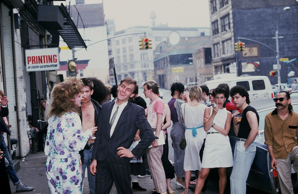 Early 80's New York: Demob fashion shoot in New York