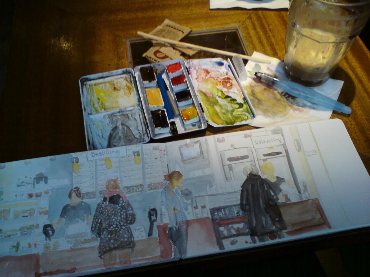 Kaffebar - sketchbreak