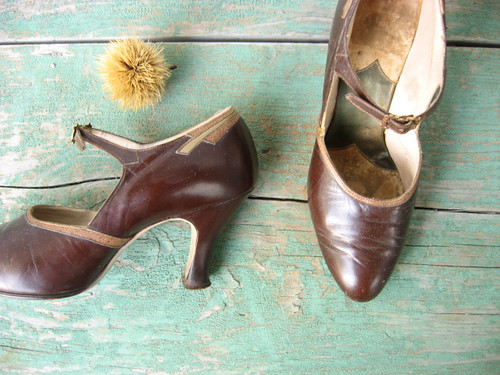 1920s or 1930s brown mary janes