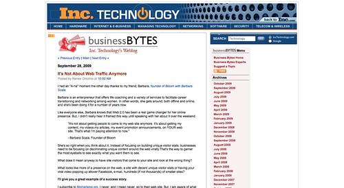 Small Business Technology Blog -- Inc. Technology_1254588862854
