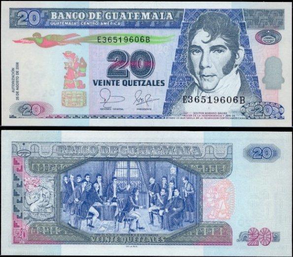 20 Quetzales Guatemala 2006