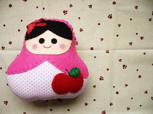 matryoshka apple plushie :)