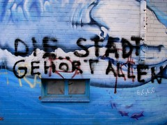 NOT IN OUR NAME, MARKE HAMBURG (spanier) Tags: blue graffiti shark hamburg protest explore fuckyou gentrification hai frontpage stpauli scribble notinourname daim tedgaier stefanmarx bernhardnochtstrasse esregnetkaviar diestadtgehrtallen offenesbrief