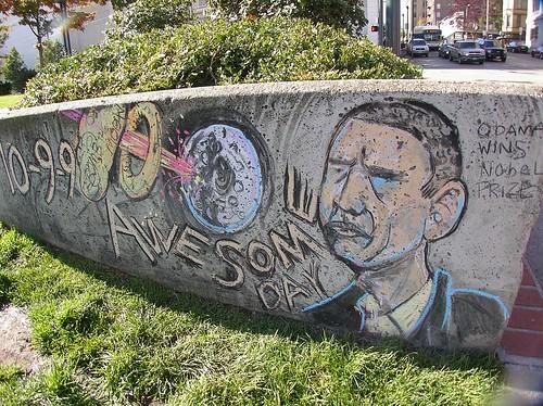 Barak Hussein Obama wins Nobel Peace Prize, NASA Bombs the Moon