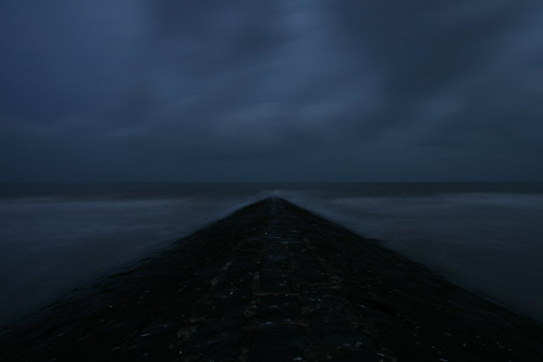Breakwater by dawn