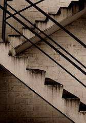 Point (JTContinental) Tags: seattle urban detail sepia architecture stairs steps capitolhill diagonals jtcontinental