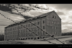 Block A - Concentration Camp Buchenwald (Alexander Steinhof) Tags: old camp white house black building history stone architecture canon vintage eos buchenwald konzentrationslager weimar ancient himmel haus structure jews gebude schwarz kz beton juden weis zwangsarbeit arbeitslager