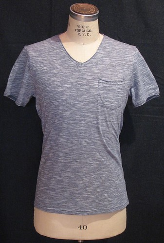 Vicarious by Nature - Heathered Pocket V-Neck Tee - MK182VC6 -  Grey by you.