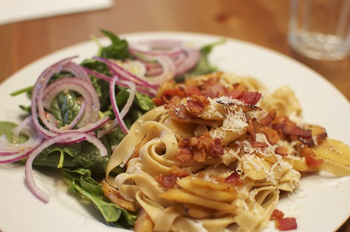 Tagliatelle With Parsnips And Bacon