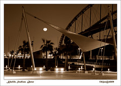 BIJ_3942b: Moonlight in Khalifa stadium (bijan2008 ... Travelling ...) Tags: sensational qatar 18200mmf3556gvr khalifastadium flickraward qlpests06