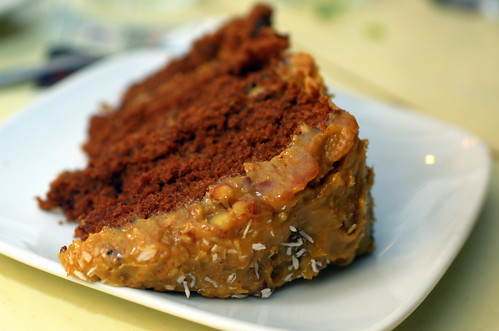 Chocolate Cola Cake with Toasted Coconut-Pecan Frosting (16)