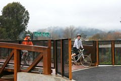 New Bridge, Santa Cruz San Lorenzo River Path near Highway 1