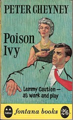 Poison Ivy - Fontana book cover (Covers etc) Tags: fiction girl mystery design artwork gun paperback crime bookcover 1960s detective thriller muder