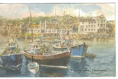 """Mevagissey"" from an original water-colour by David Skipp."