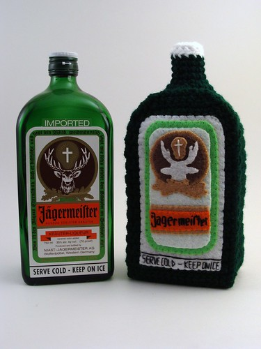 Plush bottle of Jagermeister by Yummy Pancake.