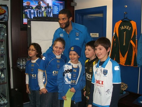 Brandon and his brother with David James