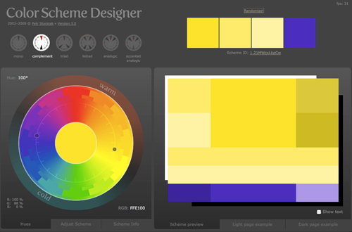 Color Scheme Designer v3