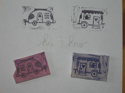 Hand Carved Stamps - trailers